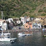 view from the boat to Rinella, the B&B is right in the center