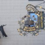 Weisses Brauhaus sign