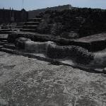 Ruins at the Templo Mayor.  The Spanish tore down most of the Aztec temples and used the stones