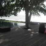 Wonderful infinity pool on the beach
