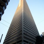 The Transamerica Pyramid, the tallest building in San Francisco.