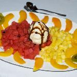 One of the desserts at the Luisiana Hotel