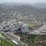 Arial view of Taiz from the Sofitel Hotel Room