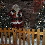 Christmas scene in the foyer.