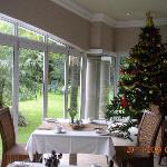 Breakfast room with Xmas tree