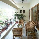 Balcony common seating area