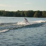 Waterskiing- the water was great!