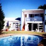Crystal clear, salt water swimming pool