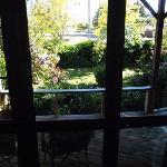 Private entrance through garden