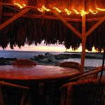 dusk at the tiki bar