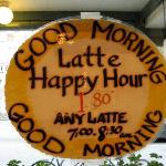 $1.80 Latte Happy Hour