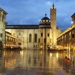 Ascoli Piceno's Piazza del Popolo, just after a rain.