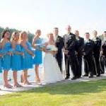 Wedding Party in front of the Lake.