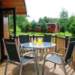 Dine alfresco outside your lodge