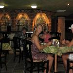 Dinner at the Maya Palms restaurant and bar located inside the 4 story tall pyramid with star ga