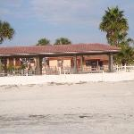 view of the motel from beach