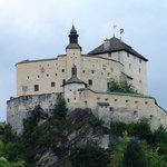 Switzerland Tarasp castle, built in 1040