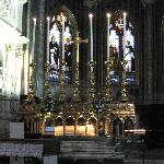 main altar with statue of St Catherine under the altar