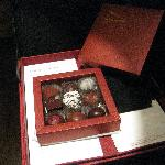 Special day. Hotel director gave some chocs