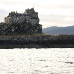 Duart Castle as seen from the ferry going to Mull