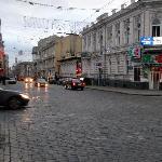 Main Street near hotel