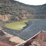 Volcanic green lake @ El Golfo