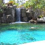 Lagoon and Waterfall.