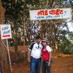 me with my wife at lords point, matheran