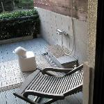 Outdoor shower for Onsen