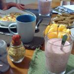 Another breakfast, including a wonderful smoothie