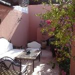 une des terrasses du ryad