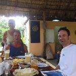 Having breakfast with Roy & Karen