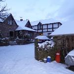 Very rare snow at hendra paul cottages!