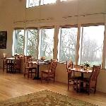 breakfast tables by the window