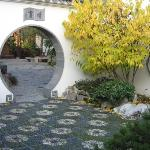 Classical Chinese Garden - note the mosaic flowers on the path