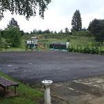 Desolate old school playground