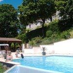 Sunshine & big pool again!