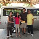 with d hotel's driver, jenson ready to bring us to d airport for our way back home