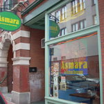 The restaurant is located on Oak Street, just steps away from the Portland Museum of Art