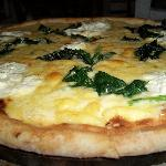"The ""Popeye"" pizza with Spinach, Ricotta, Mozzarella and Parmesan ...  to die for"
