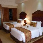 Club room, twin beds