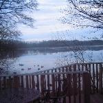 View from the lodge overlooking the lake