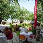 the outside part of the dinning area, over looking the beach! NICE!