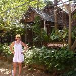 outside the bungalows
