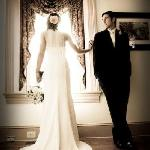 Bride and Groom Inside