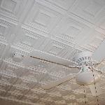 Antique tin ceiling in room