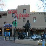 View of Hotel la Fonda from the Plaza