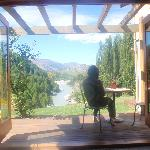 View of the shotover river from our room