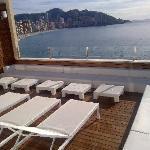 desde la terraza del bar lounge piscina