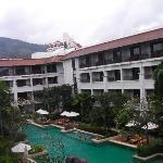 l'hotel dalla nostra camera...